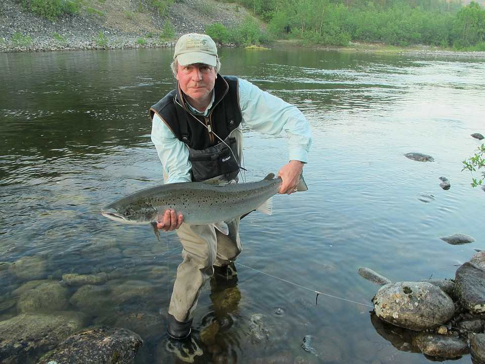 David Profumo with his fine salmon 25lbs from  Lakselv Norway July 2012