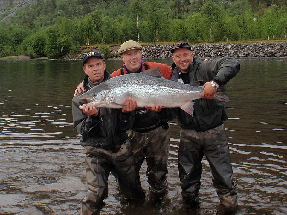 Tarquin Millington -Drake's 50lb Alta  Salmon This fish had to be taken due to deep hook hold and bleeding