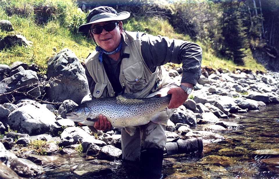 John Hotchkiss with his fine 16lb New Zealand Trout