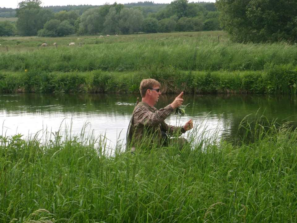 Mayfly fishing on the middle Test
